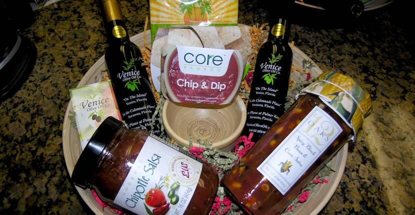 Gourmet gift baskets from Venice Olive Oil Company in Venice, Florida. Must Do Visitor Guides, MustDo.com