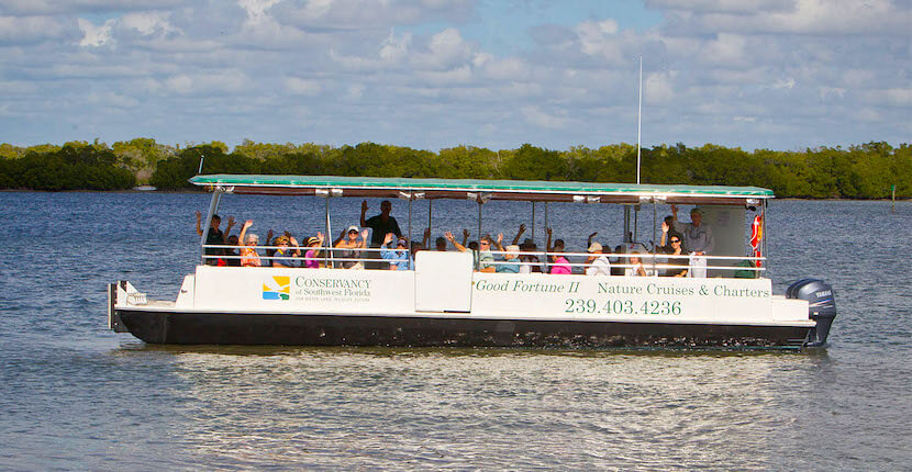 Good Fortune II eco boat tours, Conservancy of Southwest Florida Naples, Florida. Must Do Visitor Guides, MustDo.com