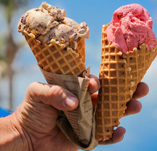 MustDo.com | Creamy delicious ice cream in a waffle cone. Photo by Debi Pittman Wilkey.