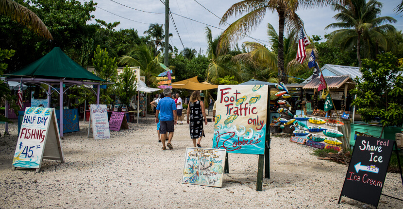 MustDo.com | Take the Key West Express ferry from Fort Myers Beach to Key West and visit Robbie's where you can feed giant tarpon! Photo by Elizabeth Barnett.