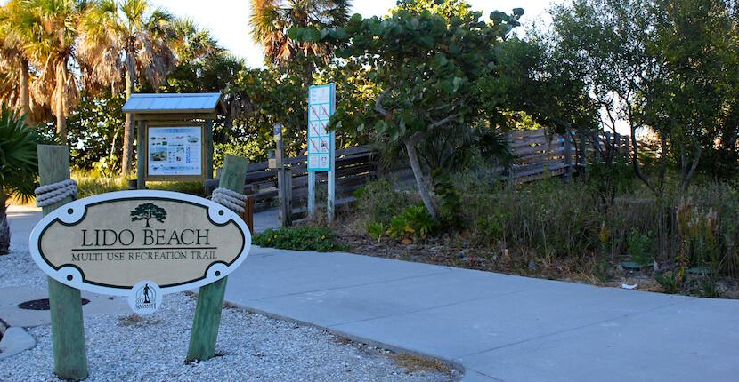 Lido Beach Multi-use Recreation Trail, Lido Beach, Lido Key, Sarasota, Florida USA. Photo by Nita Ettinger. Must Do Visitor Guides, MustDo.com