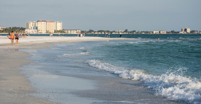 Lido Beach is very relaxing and relatively uncrowded compared to the better-known beaches on nearby Siesta Key. The white sands and gently turning waves on this Sarasota beach make it very popular for families. It also features more than one mile of beachfront extending through North Lido which makes this beach a great place for a beach stroll. Must Do Visitor Guides, MustDo.com. Photo by Debi Pittman Wilkey.