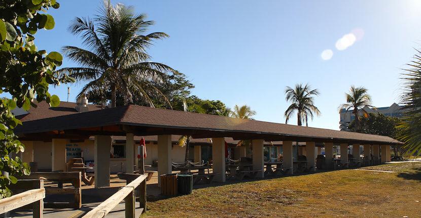 Concession Stand Lido Beach Pool Key Sarasota Florida Usa
