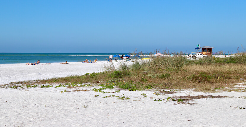 Lido Beach is very relaxing and relatively uncrowded compared to the better-known beaches on nearby Siesta Key. The white sands and gently turning waves on this Sarasota beach make it very popular for families. It also features more than one mile of beachfront extending through North Lido which makes this beach a great place for a beach stroll. Must Do Visitor Guides, MustDo.com. Photo by Nita Ettinger.