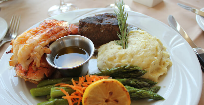 Lobster tail, beef filet mignon, steamed asparagus, Marina Jack offers three different waterfront dining options along with live entertainment and a beautiful view of Sarasota bay. Must Do Visitor Guides, MustDo.com