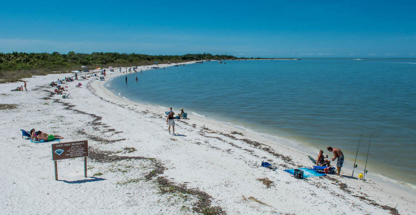 MustDo.com | Lovers Key State Park white sand beach Fort Myers Beach, Florida, USA. Must Do Visitor Guides.