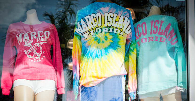 MustDo.com | Naples and Marco Island, Florida vacation souvenir shopping, t-shirts, and beach supplies. Photo by Jennifer Brinkman.
