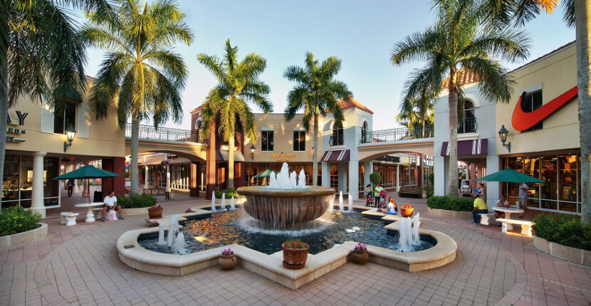 Miromar Outlet shopping center Fort Myers, Florida. Must Do Visitor Guides | MustDo.com