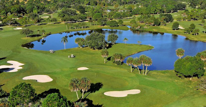 MustDo.com | Mission Valley golf course aerial Sarasota, Florida. Must Do Visitor Guides Florida vacation information.