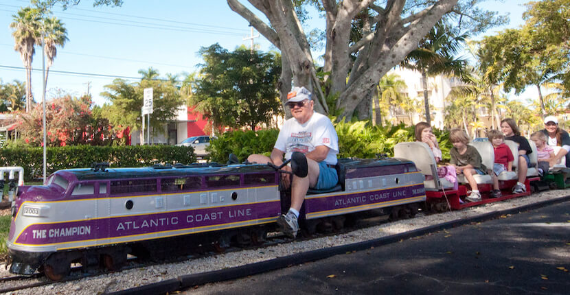 MustDo.com | Miniature train rides at the Naples Depot Museum this family-friendly Naples, Florida attraction is open year round.