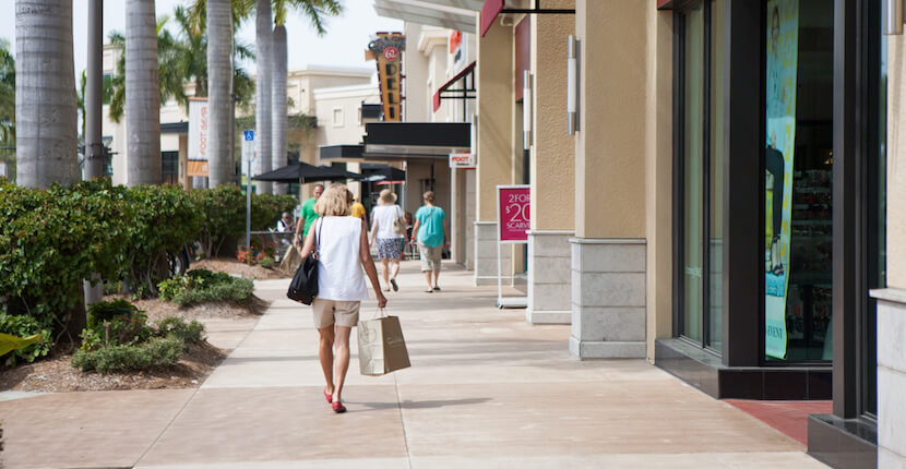 MustDo.com | Shopping and dining at Mercato Shops in Naples, Florida. You'll find boutiques and shops offering the latest swimwear, home furnishings, jewelry, men's, women's, and children's apparel and shoes. Photo by Mary Carol Fitzgerald.