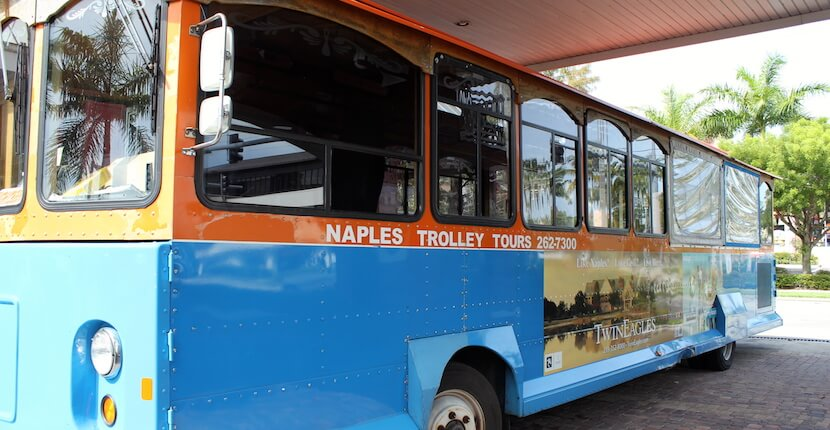 MustDo.com | See more than 100 Naples, Florida area points of interest during a narrated tour aboard Naples Trolley Tours' vintage trolley.