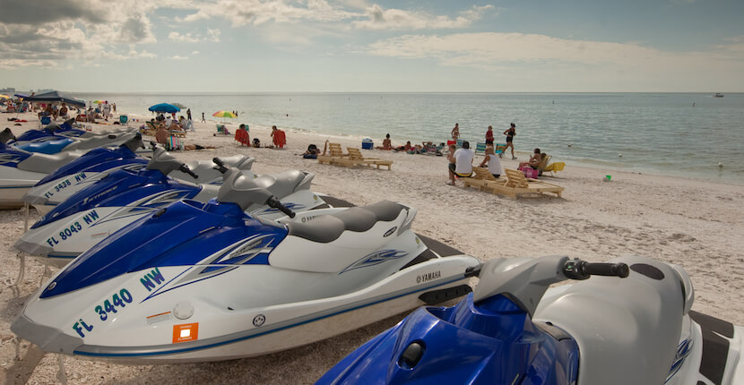 Naples Beach Water Sports fun activities Waverunner rentals and tours Half hour and full hour rentals are available Naples, Florida.