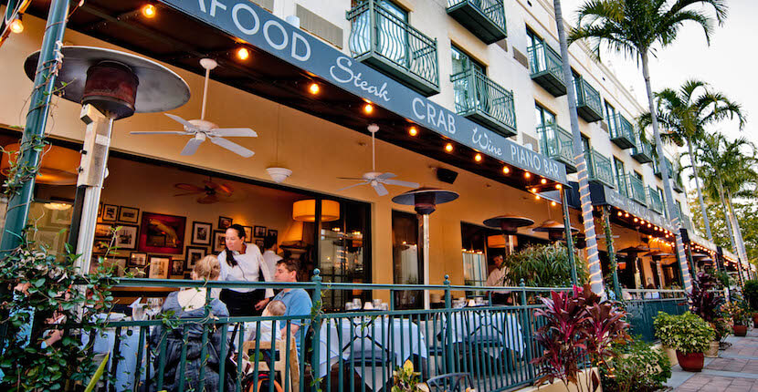 MustDo.com | Dine indoors or out on the patio at Truluck's Award-Winning Steak and Seafood Restaurant in the Heart of Old Naples, Florida.