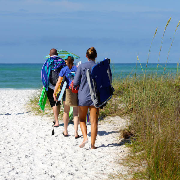 Nokomis Beach is Sarasota Counties oldest public beach and is well-liked by families and fishing enthusiasts. Though not as prevalent as on Caspersen Beach, there are shark's teeth that can be found washed up on this Casey Key, Florida beach. Photo by Nita Ettinger. Must Do Visitor Guides, MustDo.com.