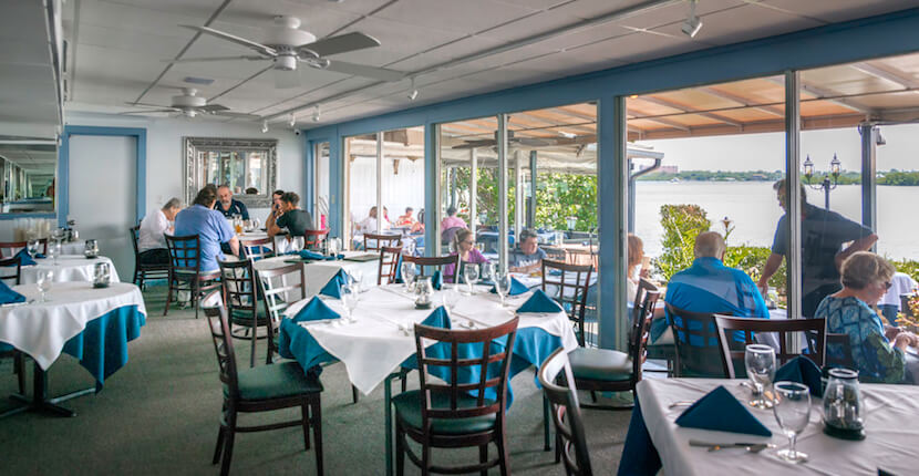 Brunch, Ophelia's on the Bay waterfront fine dining restaurant Siesta Key Sarasota, Florida. Photo by Jennifer Brinkman. Must Do Visitor Guides, MustDo.com.