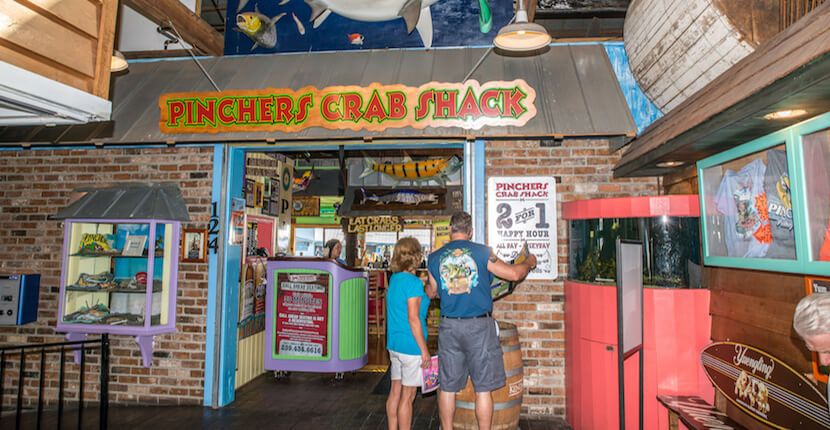 MustDo.com | Pinchers casual seafood restaurant located at Tin City in Naples, Florida. Kids eat free! Photo by Jennifer Brinkman.