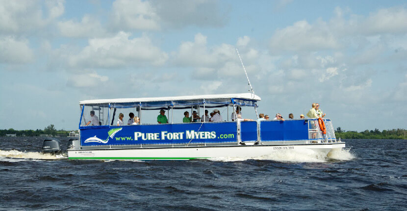 MustDo.com | Pure Florida Edison Explorer eco-tour and sightseeing Caloosahasee River cruises Fort Myers, Florida.