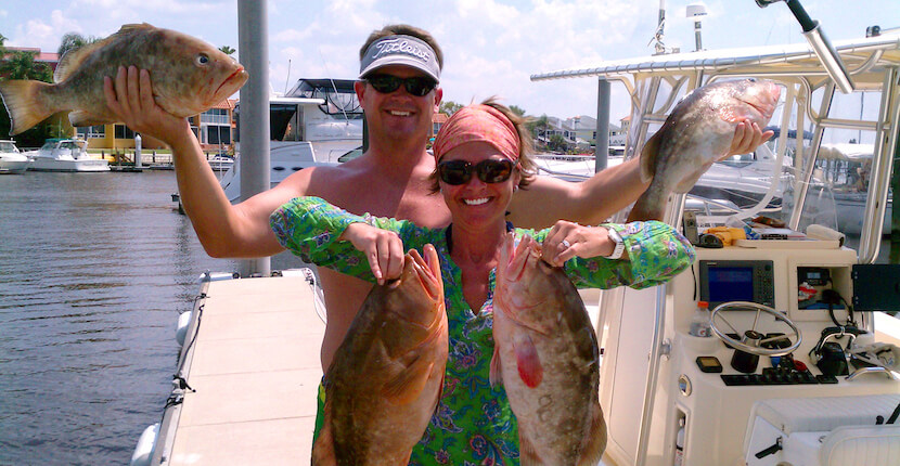 MustDo.com | Showing off their catch. Pure Florida offers private and shared offshore deep sea, calm bay, and near coastal fishing charters for beginners to seasoned anglers of all ages.