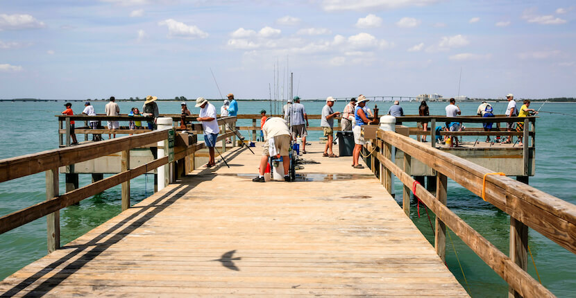 The Fishing Pier on Sanibel Island Florida is a popular spot to fish. Photo by Chris L. Smith #florida #vacation #fishing #sanibel #thingstodo #activities
