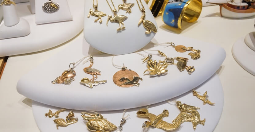 MustDo.com | Cedar Chest Fine Jewelry on Sanibel features an exclusive selection of unique and original sea life and nature-themed jewelry. Photo by Mary Carol Fitzgerald.