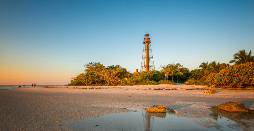 MustDo.com | The beach and Sanibel Island Lighthouse is located on the eastern tip of Sanibel Island, Florida and offers both Gulf of Mexico and Estero Bay views. Photo by Jennifer Brinkman.