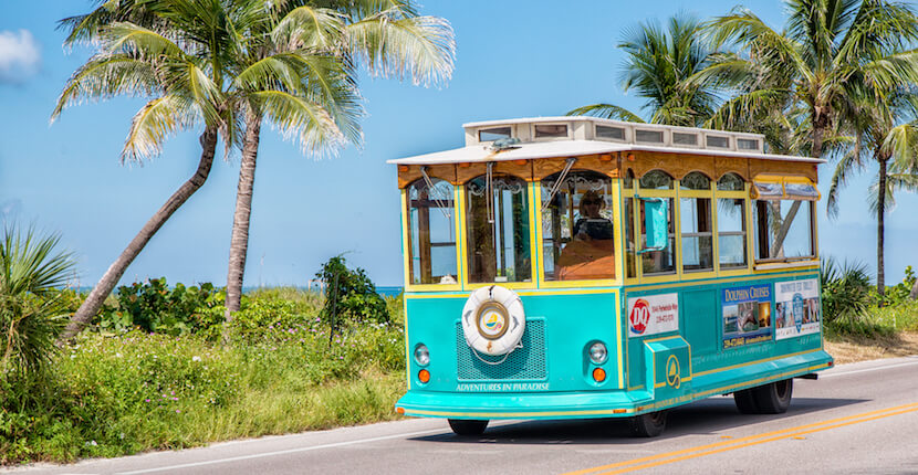 MustDo.com | Adventures in Paradise Sanibel Island offers narrated trolley tours, Shelling, wildlife, and fishing cruises. Must Do Visitor Guides Florida vacation information.