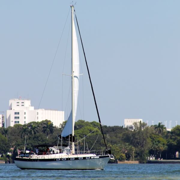 Key Sailing sunset and sightseeing cruises of Sarasota Bay and the Gulf of Mexico ranging from two to eight hours. Sarasota, Florida. Must Do Visitor Guides, MustDo.com