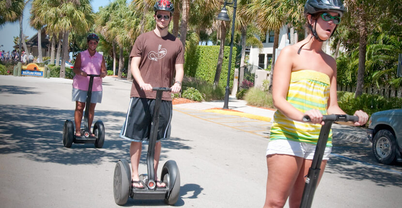 MustDo.com | Hop on a Segway and explore the beauty of Historic Downtown Naples, Florida. Must Do Visitor Guides Florida vacation information.
