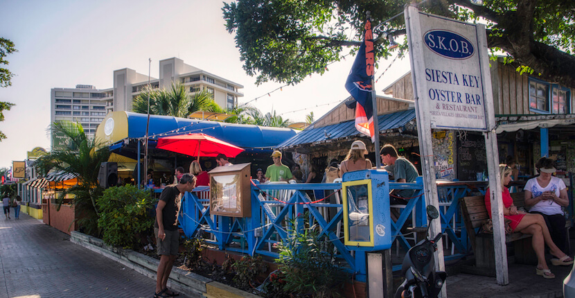 """Siesta Key Oyster Bar - """"SKOB"""" is a great place to enjoy a cold beer or cocktail, grab a bite to eat and listen to great live music in a Key West style setting right in the heart of Siesta Key Village Sarasota, Florida. Must Do Visitor Guides, MustDo.com Photo by Jennifer Brinkman."""