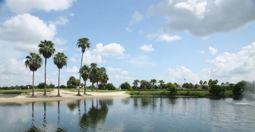 "MustDo.com | Stoneybrook Golf Club in Estero (near Fort Myers), Florida features wide fairways, large greens, water hazards, and is ""Beginner Friendly"" certified by the National Golf Course Owners Association."