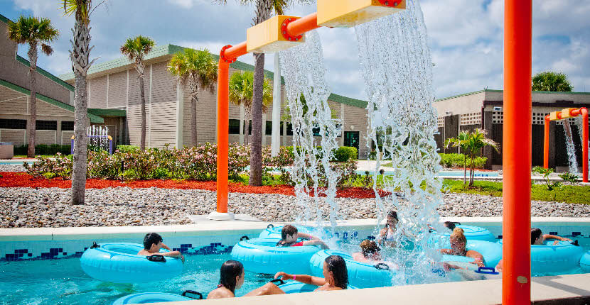 MustDo.com | Kids enjoy water fun at Naples Sun-N-Fun Lagoon water park which is located in North Collier Regional County Park in Naples, Florida.