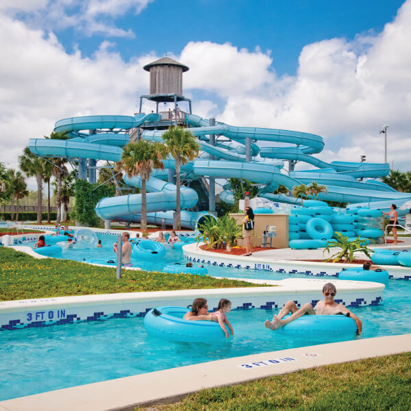 Enjoy water fun at Naples Sun-N-Fun Lagoon water park which is located in North Collier Regional County Park in Naples, Florida. Photo by Debi Pittman Wilkey