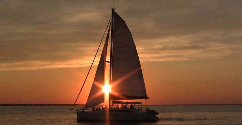 MustDo.com | Take a leisurely three-hour sunset cruise aboard Cool Beans sailing catamaran in Naples and Marco Island, Florida.