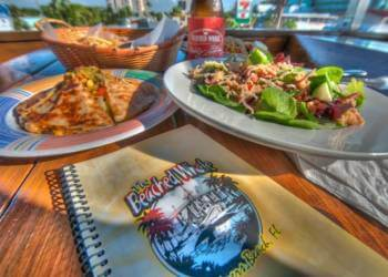 Great food, exotic cocktails, and sunset Gulf views combine to make The Beached Whale one of Fort Myers Beach's most popular sports bar restaurants. Must Do Visitor Guides, MustDo.com.
