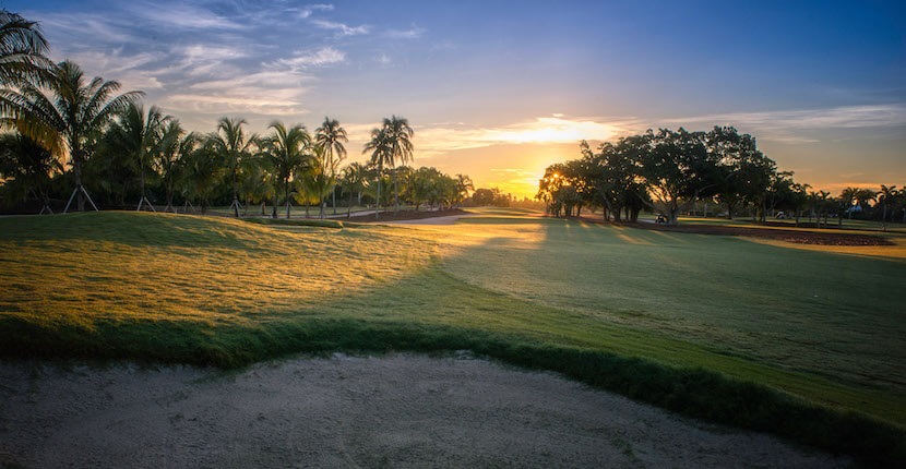 The Naples Beach Hotel golf course fairway at dawn Naples, Florida. Must Do Visitor Guides, MustDo.com