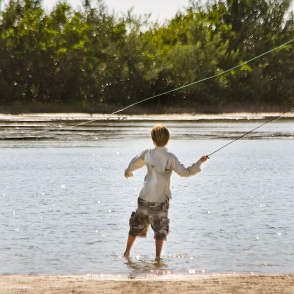 Fishing at Tigertale Beach, Marco Island, Florida, USA