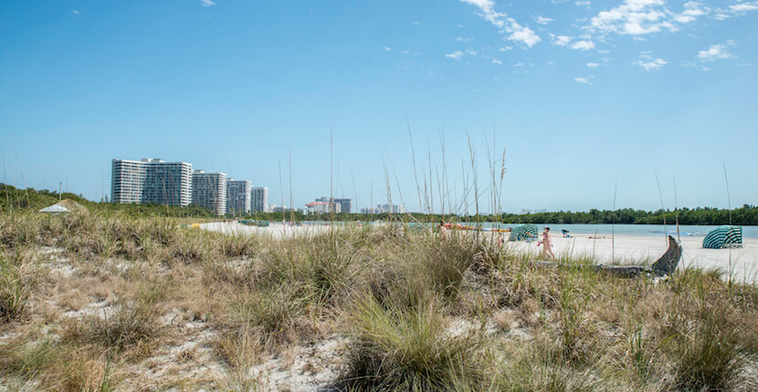 MustDo.com | Tigertail Beach on Marco Island, Florida offers beautiful white sand, shelling, tidal pool exploration and a playground making this a great family beach and one of the most popular in the area. Photo by Jennifer Brinkman.