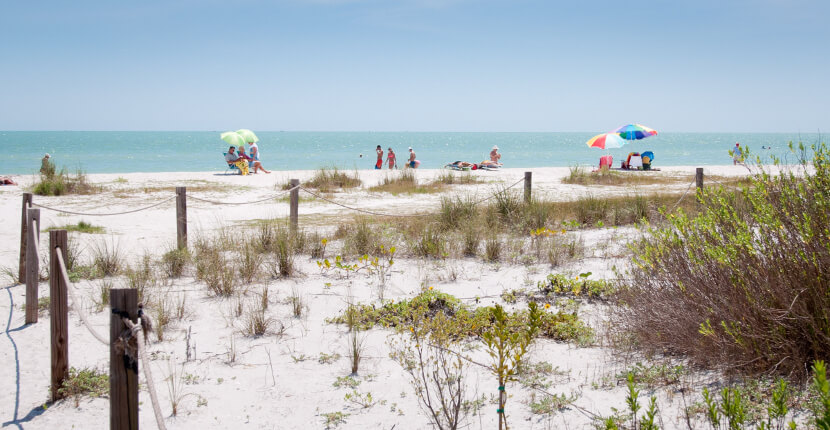 MustDo.com | White sand beach and Gulf of Mexico Turner Beach on Captiva Island, Florida. Must Do Visitor Guides vacation information. Photo by Debi Pittman Wilkey.