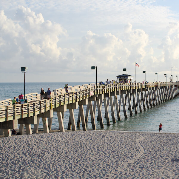 Venice Pier Gulf of Mexico beach Venice, Florida. Must Do Visitor Guides | MustDo.com