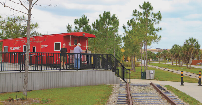 Caboose, you can tour the Historic Venice Train Depot in Venice, Florida. Must Do Visitor Guides, MustDo.com