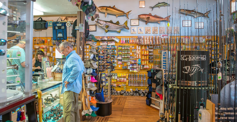 MustDo.com | Must Do Visitor Guides Southwest Florida vacation information. Fishing Whitney's Bait and Tackle Sanibel Island, Florida. Photo by Jennifer Brinkman.