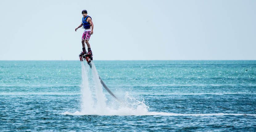 MustDo.com | YOLO Watersports offers Flyboarding on Gulf of Mexico at Captiva Island, Florida, USA. Photo/Debi Pittman Wilkey