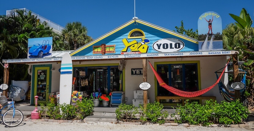 MustDo.com | YOLO Watersports Captiva beach equipment rentals Captiva Island, Florida.