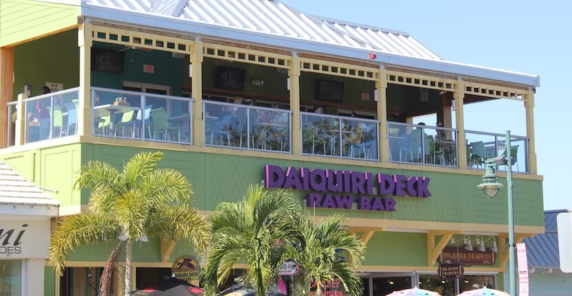 Daiquiri Deck Raw Bar restaurant St. Armands Circle Sarasota, Florida. Must Do Visitor Guides, MustDo.com