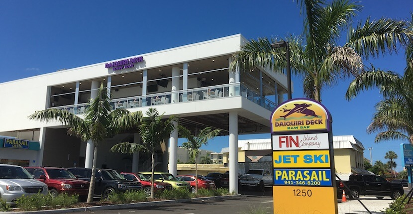 Daiquiri Deck restaurant and bar on South Siesta Key, Sarasota Florida. Must Do Visitor Guides | MustDo.com