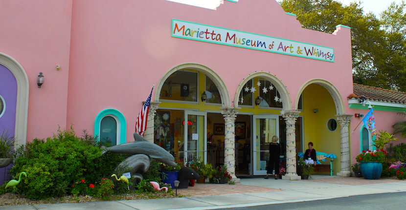 Marietta Museum of Art & Whimsy and Sculptur Garden Sarasota, Florida USA. Photo by Nita Ettinger. Must Do Visitor Guides, MustDo.com.
