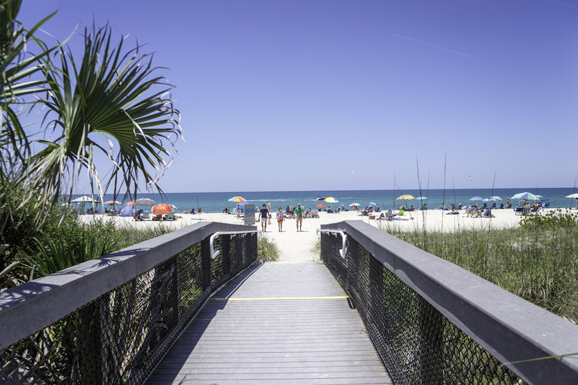 The walkway to Nokomis Beach on Casey Key near Venice and Sarasota, Florida. Photo by Jennifer Brinkman. Must Do Visitor Guides, MustDo.com.