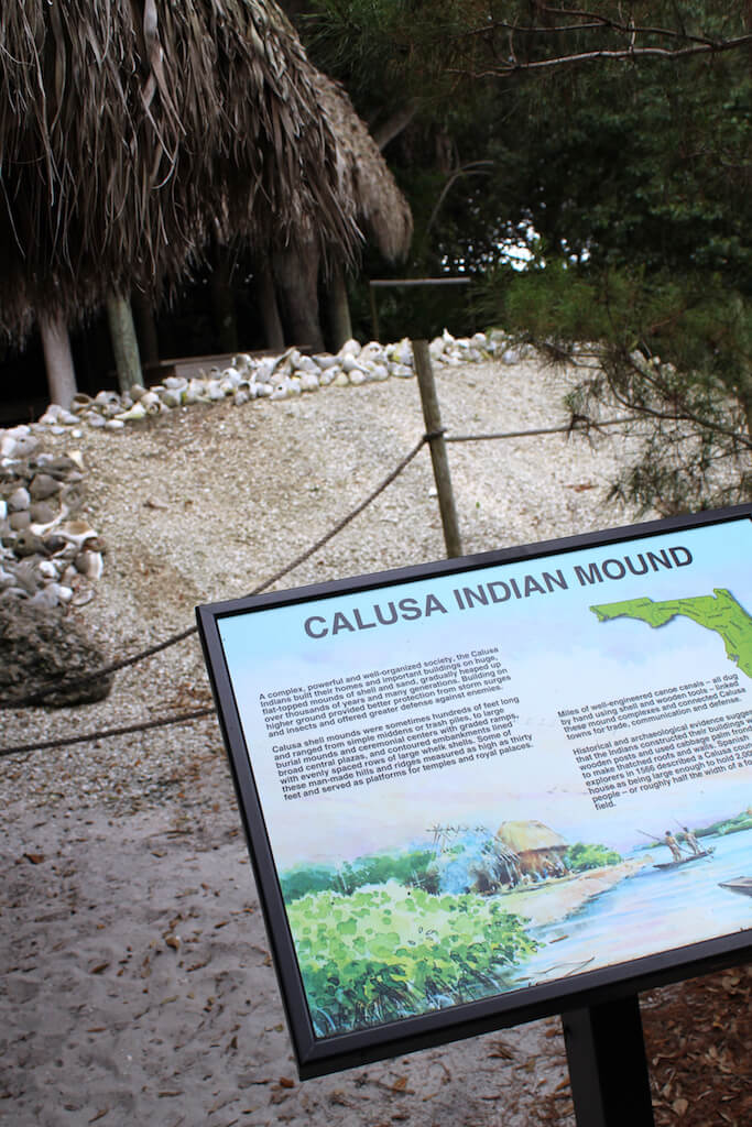 Indian history exhibit of a Calusa Indian shell mound at the Collier County Museum Naples, Florida. Must Do Visitor Guides, MustDo.com.