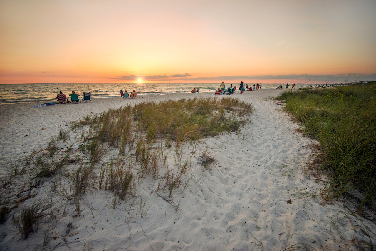 Things to do in Bonita Springs, Florida. Sunset at Barefoot Beach Preserve Bonita Springs, Florida. Photo credit Jennifer Brinkman. Must Do Visitor Guides, MustDo.com